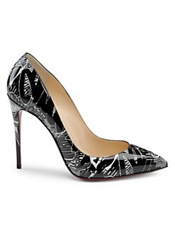 76f71f1c845b Christian Louboutin - Pigalle Follies 100 Printed Patent Leather Pumps