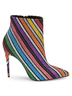 d2c36400367 Christian Louboutin - So Kate 100 Stripe Glitter Suede Ankle Boots -  saks.com