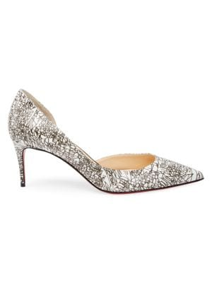 Iriza 70 Calligraphy Print Leather Pumps by Christian Louboutin