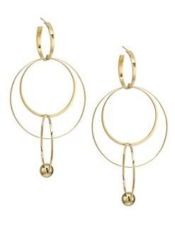 6b0d9f7fdb993 LANA JEWELRY. Vice 14K Yellow Gold Wire Bond Hoop Earrings