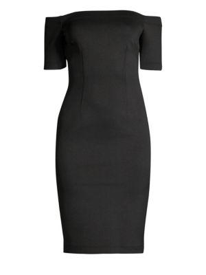 Yigal Azrouël Off-The-Shoulder Scuba Dress