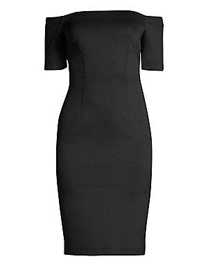 8a8423efecbc69 St. John - Metallic Knit Sheath Dress - saks.com