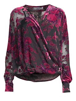 f96cc0b16e8a5 Likely. Willow Burnout Velvet Blouse