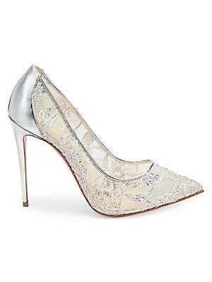 5d348c9f556 Christian Louboutin - Follies Strass 85 Embellished Mesh Pumps ...