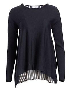 82cf1206acbaf Akris punto. Striped Back Wool Sweater