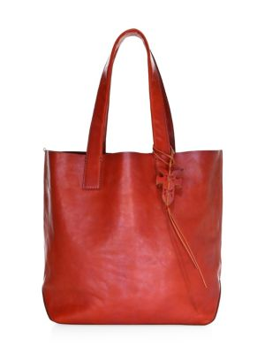 Carson Leather Tote - Red