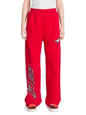 Off White Jockey Square Sweat Pants, Red White