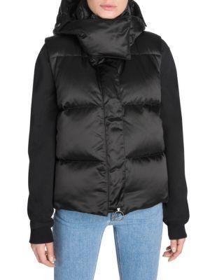 Sleeveless Down Jacket in Black/Wht