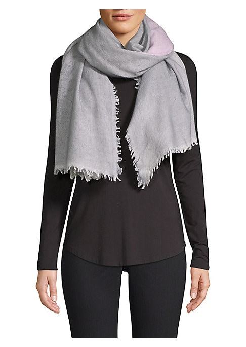 """Image of This warm oversize scarf is crafted in luxe cashmere. Cashmere. Dry clean. Imported. SIZE.40""""W x 80""""H."""