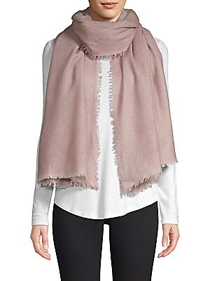 """Image of This warm oversize scarf is crafted in luxe cashmere. Cashmere Dry clean Imported SIZE 40""""W x 80""""H. Soft Accessorie - Scarves. Bindya. Color: Tan Melange."""