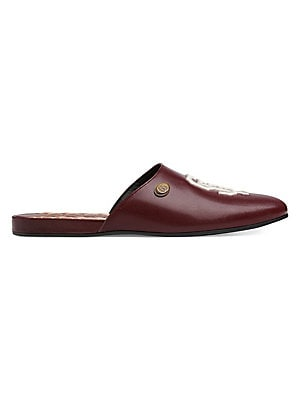 6464aa53cff Gucci - Princetown Leather Slipper With Kingsnake - saks.com