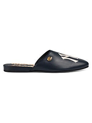 1d3c4ca23 Gucci - Leather Slipper with NY Yankees™ Patch