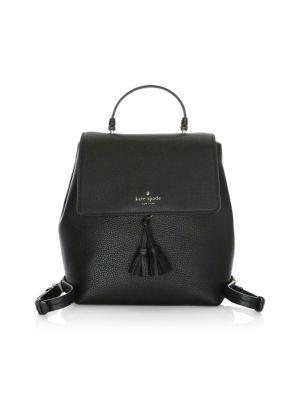 Hayes Street - Teba Leather Backpack - Black