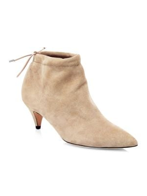Sophie Suede Ankle Boots in Sand