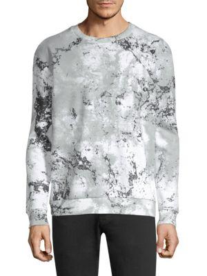 Hugo Boss Cottons Snow Camo Crewneck Sweater