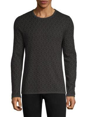 MPG Scuber Geo Print Sweater in Grey