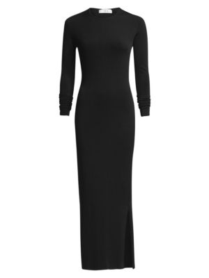 TRE BY NATALIE RATABESI Viscose Bodycon Gown in Black