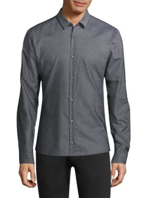 Hugo Boss Cottons Ero Slim-Fit Ombre Woven Shirt