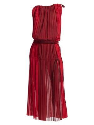 TRE BY NATALIE RATABESI Fama Chiffon Dress in Ruby Shiraz