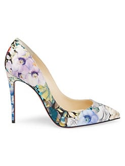 ae827a6767a5 Christian Louboutin - Pigalle Follies 100 Floral Satin Pumps