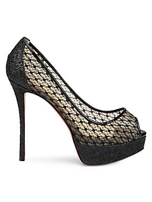 7c9425e00f4b Christian Louboutin - Fetish 130 Lace Peep Toe Pumps - saks.com