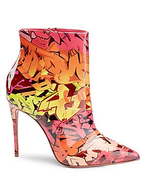 3106f12ebe5 Christian Louboutin - So Kate 100 Printed Patent Leather Booties - saks.com