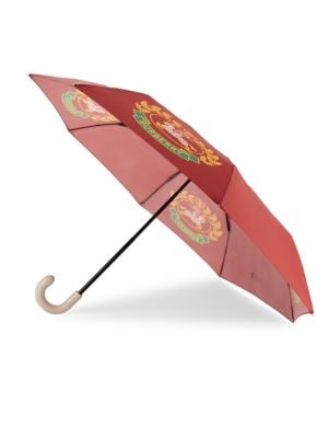 Printed Folding Umbrella in Red