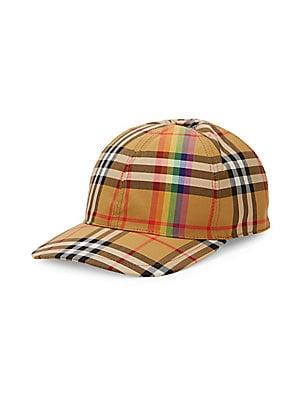 14c4d442 Burberry - Rainbow Tartan Baseball Cap - saks.com