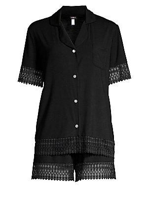 Eberjey - Two-Piece Sleep Chic Pajama Set - saks.com 4a0af68d674