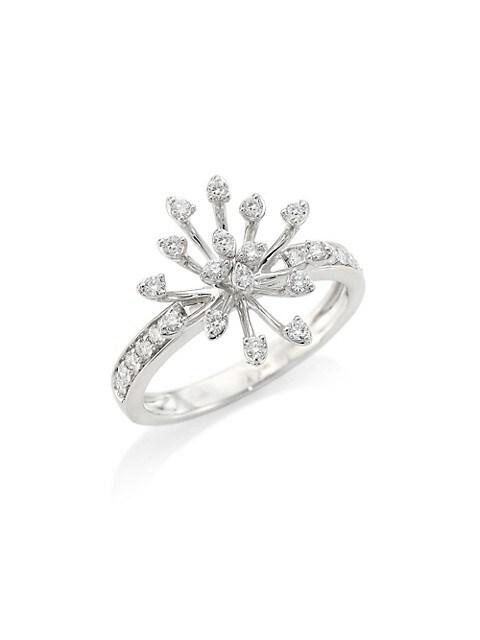 Luminus 18K White Gold & Diamond Ring