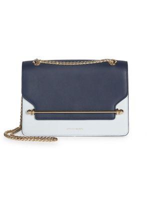 Strathberry East/West Bi-Color Leather Shoulder Bag