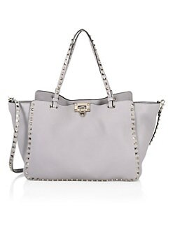 edb27f8446b Product image. QUICK VIEW. Valentino Garavani. Medium Rockstud Leather Tote