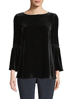 3e1b1515ba7014 Donna Karan New York - Cold-Shoulder Grommet Top - saks.com