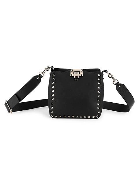 Valentino Garavani Mini Rockstud Leather Hobo Bag