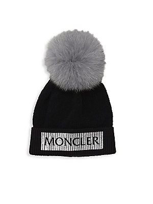 0e3d98102229 Moncler - Kid s Fox Fur Knit Pom-Pom Hat - saks.com