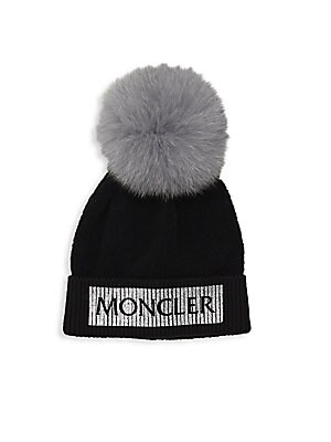 7bb585a1501 Moncler - Kid s Fox Fur Knit Pom-Pom Hat - saks.com