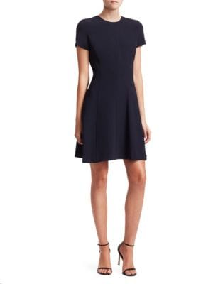 Modern Seamed Fit And Flare Dress by Theory