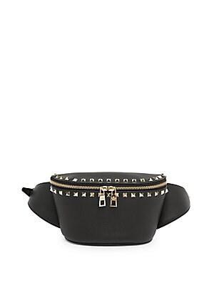 4f8d4c485117 Valentino Garavani - Rockstud Leather Belt Bag