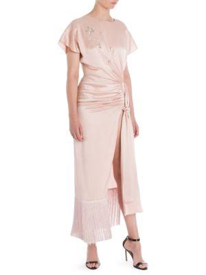 MAGDA BUTRYM Juno Silk Gathered Knot Dress