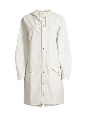 Long Hooded Raincoat by Rains