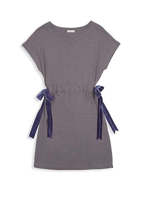 Girls Tie Popover Dress