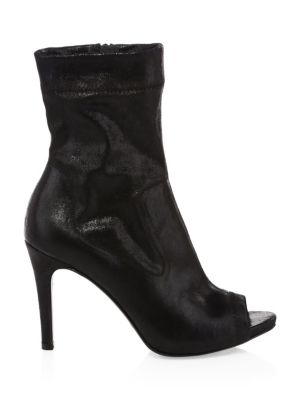 Sauni Open Toe Booties in Black