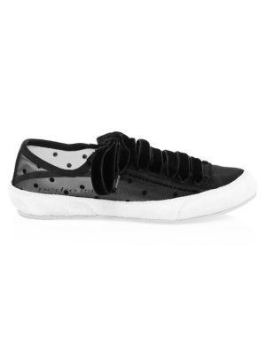 PEDRO GARCIA Parson Polka Dot Sneakers in Black