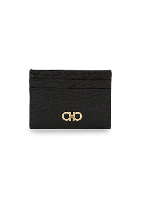 David Hampton Black Saffiano Leather Slim Card Holder