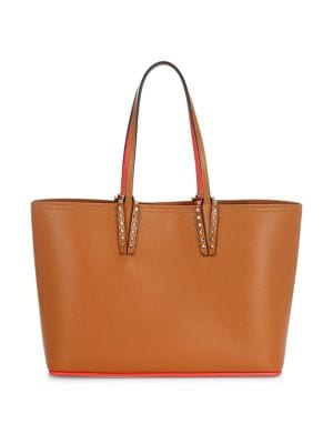 Small Cabata Leather Tote by Christian Louboutin