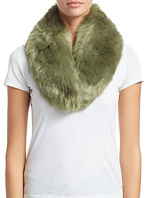 """Image of Fluffy princess collar adds glamour to any ensemble Front hook and eye closure Polyester lining 3.5""""W x 32.5""""L Modacrylic/acrylic Fur type: Faux Dry clean Imported. Soft Accessorie - Day And Evening Wraps. Charlotte Simone. Color: Khaki."""