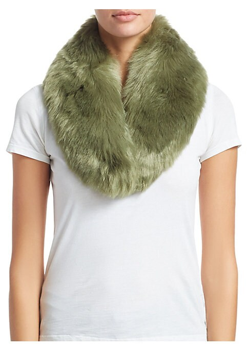 """Image of Fluffy princess collar adds glamour to any ensemble. Front hook and eye closure. Polyester lining.3.5""""W x 32.5""""L.Modacrylic/acrylic. Fur type: Faux. Dry clean. Imported."""