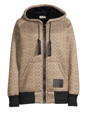 Coach Signature Oversized Hoodie - Women'S, Brown Multi from COACH