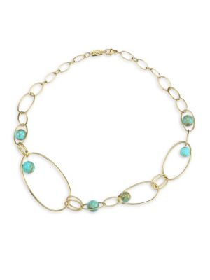 Nova 18K Yellow Gold & Turquoise Gold Matrix Necklace