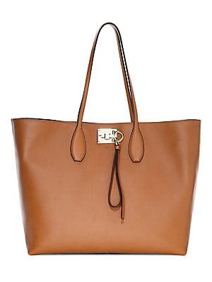 8e9a75ccabf Salvatore Ferragamo - Medium Studio Leather Tote - saks.com